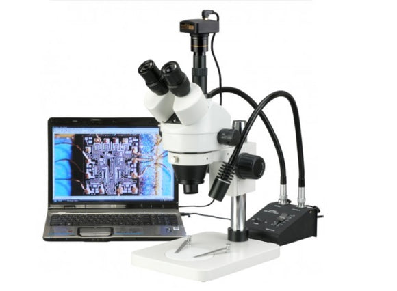SM1TSW25 Video Microscope, 3.5X - 225X Zoom w/ 5MP USB Camera & LED Light