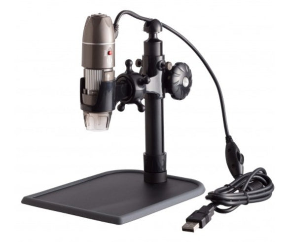 USB Digital Microscope 5X-500X Zoom, Stand, for PC or Mac