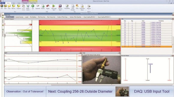 64AAB606 Mitutoyo MeasurLink SPC Software Real-Time Standard