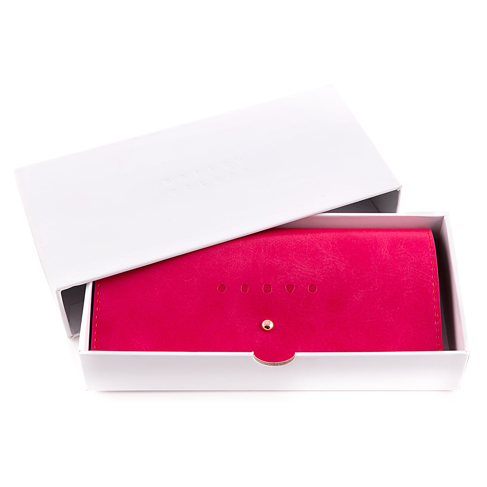 Studded Glasses Case in Pink