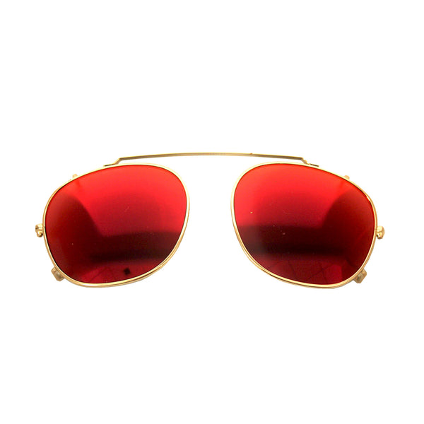 Parker Clip On / Gold and Red Mirror {{product_type}} - Bailey Nelson London