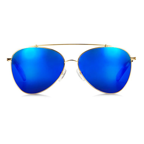 Airlie / Gold Blue Mirror {{product_type}} - Bailey Nelson London