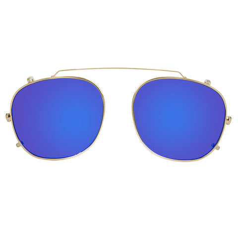 Parker Clip On / Gold and Blue Mirror {{product_type}} - Bailey Nelson London