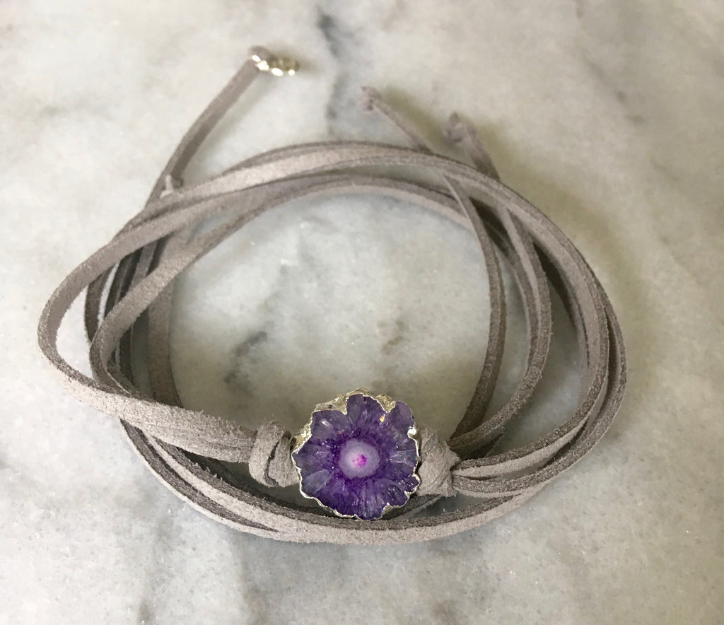 silver purple solar quartz wrap