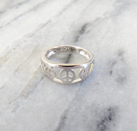 3 peace sign ring
