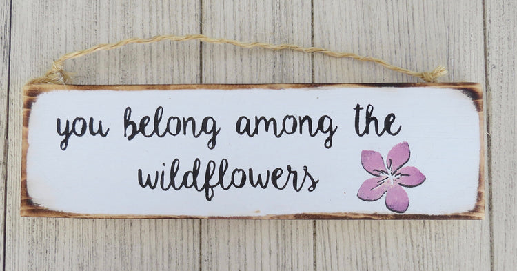 wildflowers sign