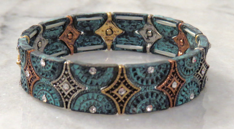 medallion stretch bracelet