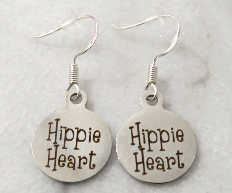 hippie heart earrings