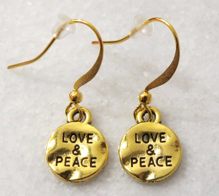 love & peace earrings