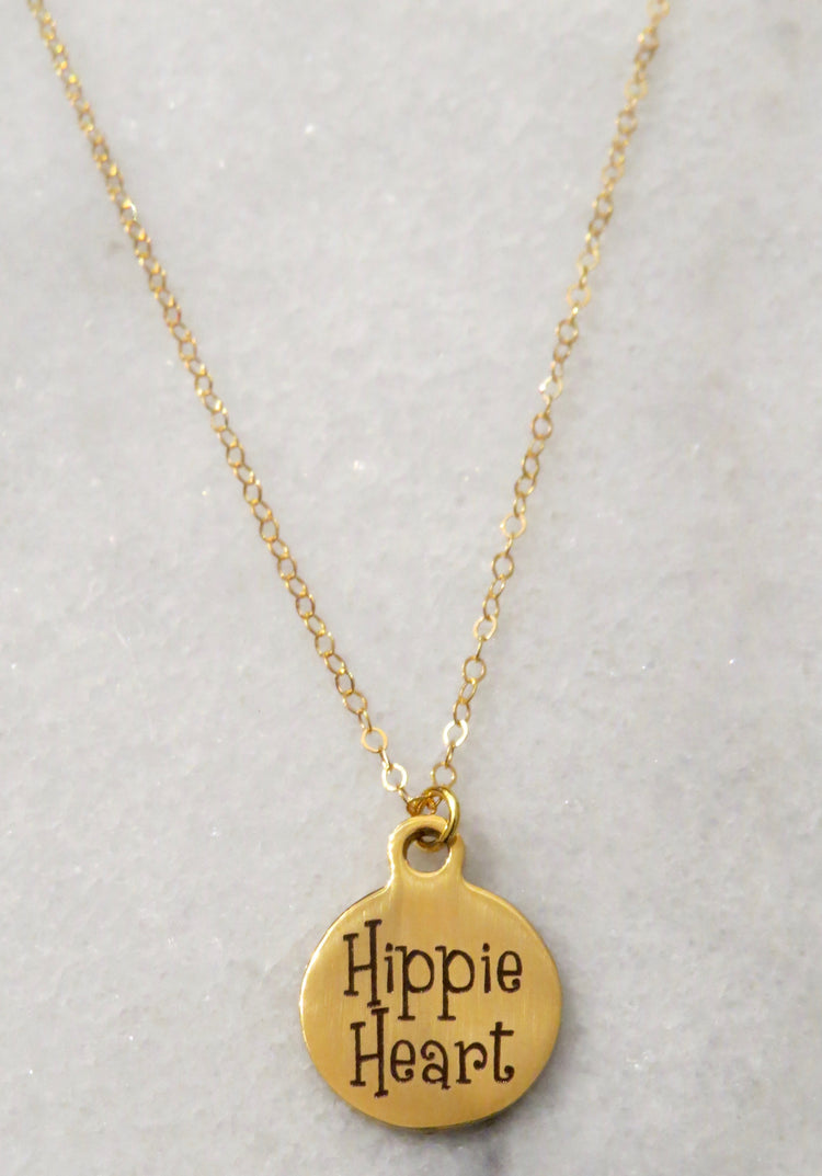 hippie heart necklace