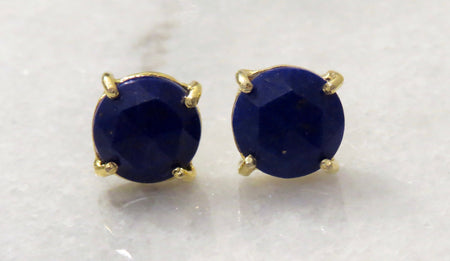 lapis post earrings