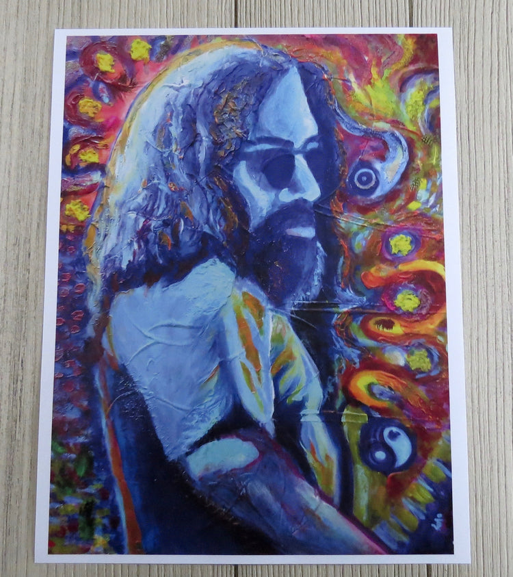 jerry garcia artwork print