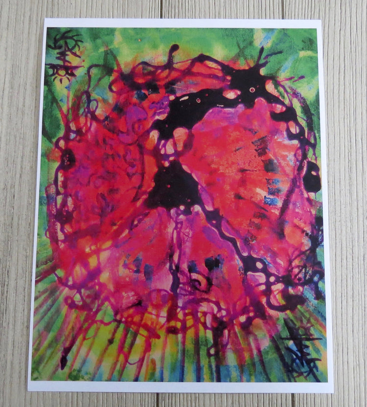 tie dye peace sign artwork print