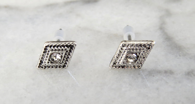 crystal diamond earrings