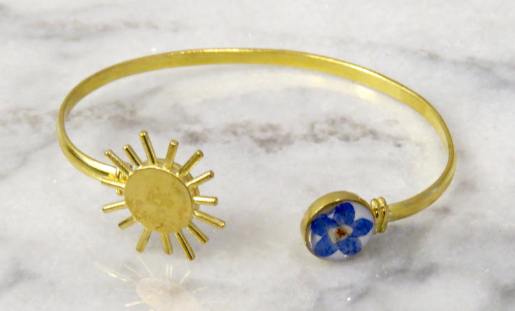 forget me not sun bracelet