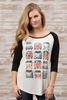 vw van baseball tee