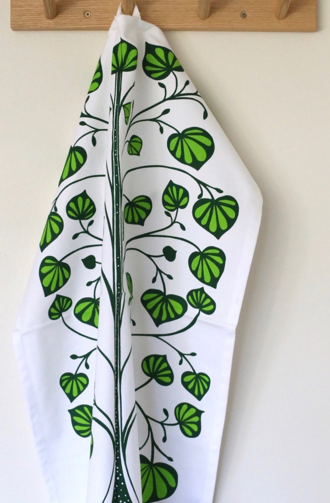 Patterns of New Zealand 'Kawakawa' Tea Towel