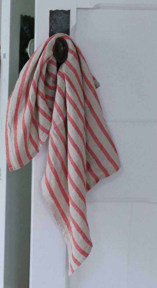 Striped Linen Tea Towel