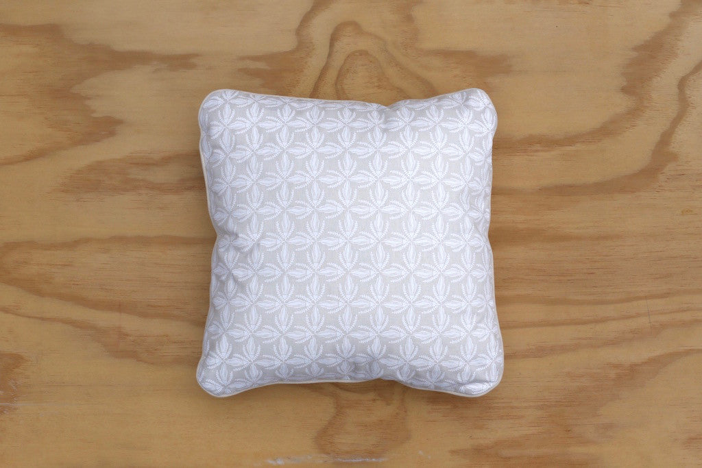 Kowhai Lace and Natural Piped 40cm Cushion