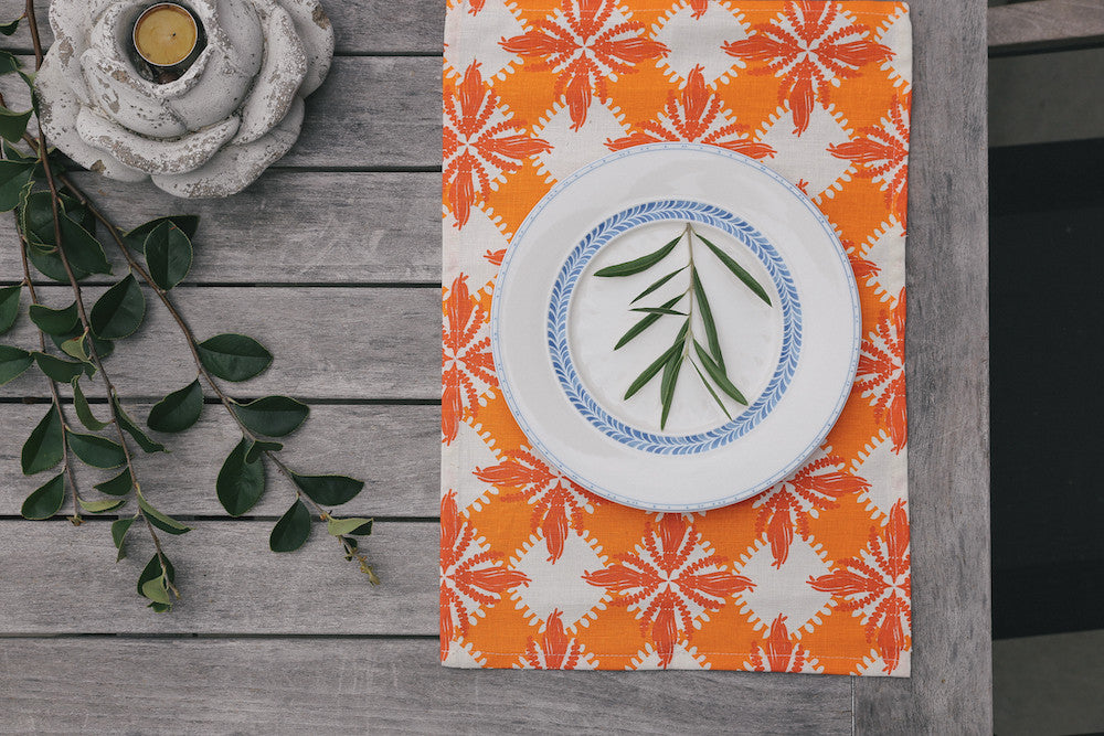 Pacifica place mat - orange