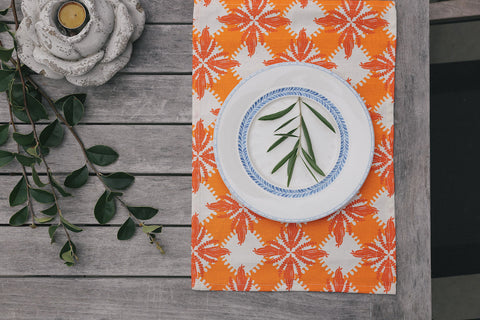 Pacifica print in orange place mat