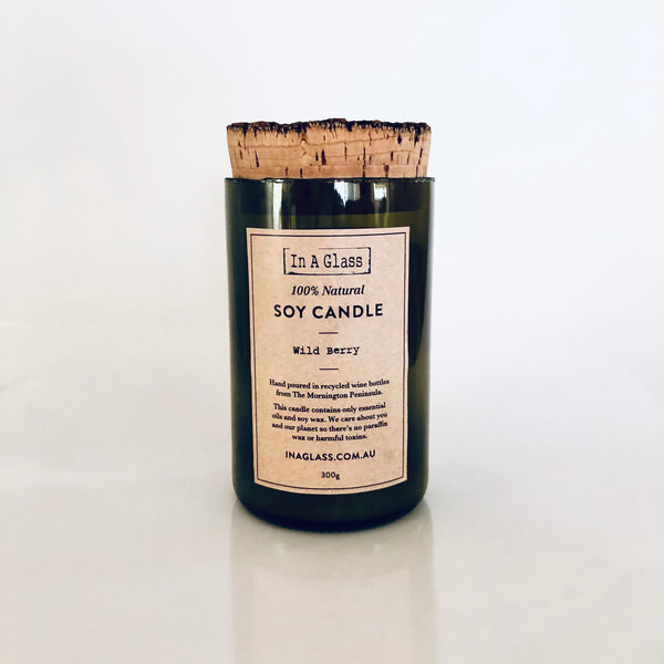 100% Natural Soy Candle - Wild Berry