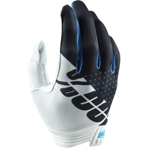 100% iTrack Glove, White/Steel Grey