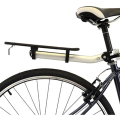 Axiom Flip Flop LX Seatpost Rear Rack: Silver/Black - Seatpost Mount Rack