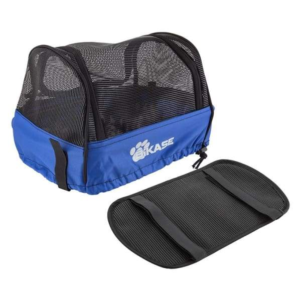 BIKASE Basket Pet Cover: Black/Blue