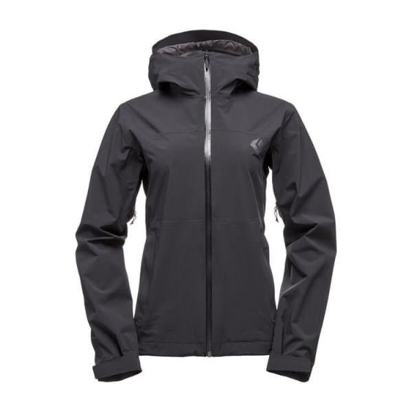 Black Diamond Women's Stormline Stretch Rain Shell Jacket - Black
