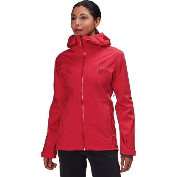 Black Diamond Women's StormLine Stretch Rain Shell Jacket - Paintbrush