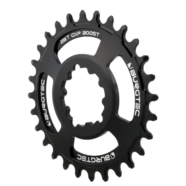 Burgtec GXP Boost Thick Thin Chainrings: Black
