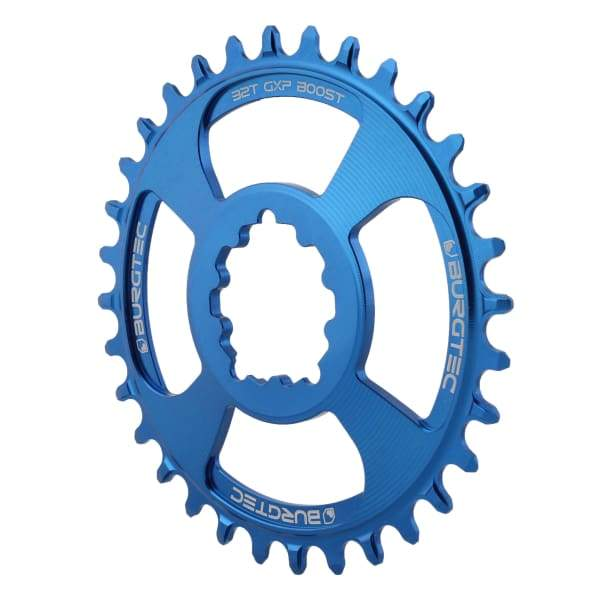 Burgtec GXP Boost Thick Thin Chainrings: Deep Blue