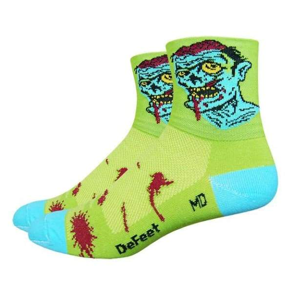 DeFeet Aireator 3 Zombie Socks - slime green / 9.5-11.5 - Socks