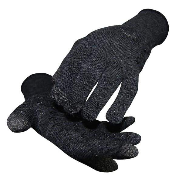 DeFeet Duraglove E-Touch Wool Glove: Charcoal
