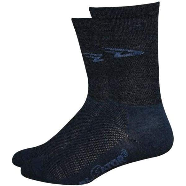 DeFeet Wooleator HiTop Sock: Charcoal