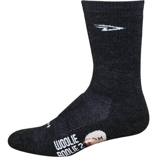 "DeFeet Woolie Boolie 6"" Sock, Charcoal"