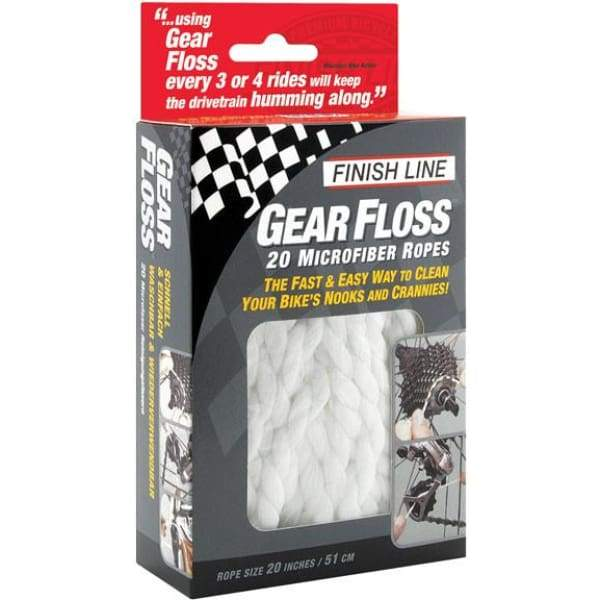 Finish Line Gear Floss Cleaning Rope - Microfiber cleaning rope / 20 rope - Maintenance Products