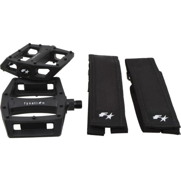Fyxation Gates Pedal and Strap Kit Combo