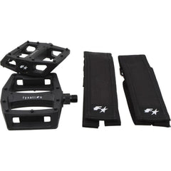 Fyxation Gates Pedal and Strap Kit Combo - Black - Pedals