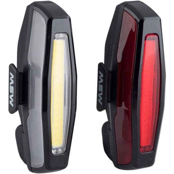 MSW Pangolin Front and Rear USB Headlight and Taillight Set