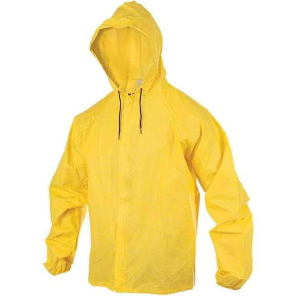 O2 Hooded Rain Jacket with Drop Tail: Yellow