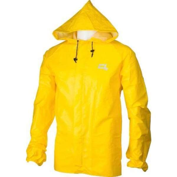 O2 Rainwear Element Series Rain Jacket with Hood: Yellow