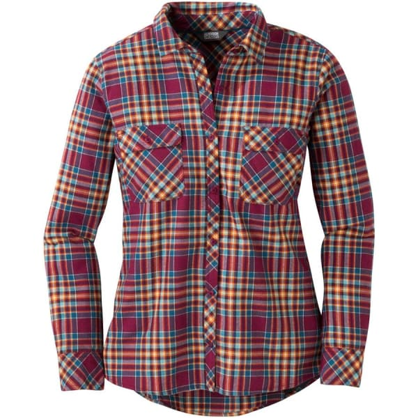 Outdoor Research Ceres II Womens Flannel Shirt: Garnet - Womens Shirts