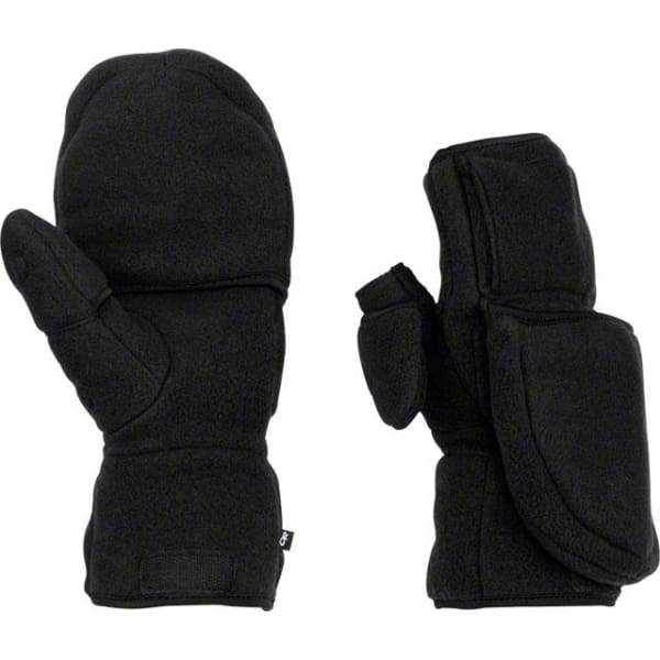 Outdoor Research Meteor Mitts: Black/Charcoal - Gloves