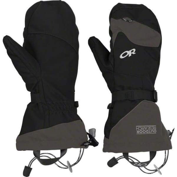 Outdoor Research Meteor Mitts: Black/Charcoal