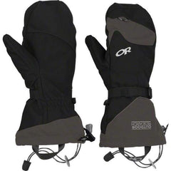 Outdoor Research Meteor Mitts: Black/Charcoal - Black/Charcoal / Small - Gloves