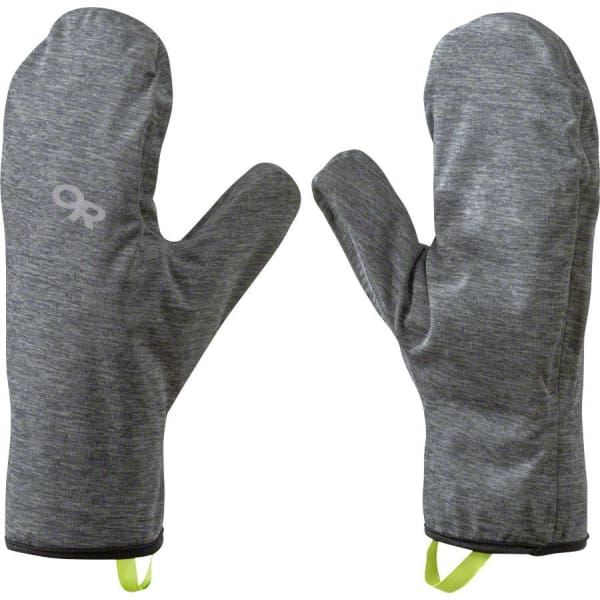 Outdoor Research Shuck Shell Mitts: Charcoal/Heather