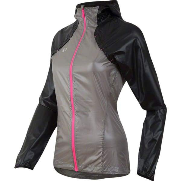 Pearl Izumi Womens Pursuit Barrier Lite Run Jacket: Black/Monument Gray - Jackets