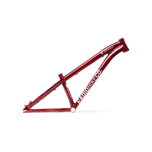 "Radio Griffin Pro 26"" Dirt Jump Frame, Translucent Red"